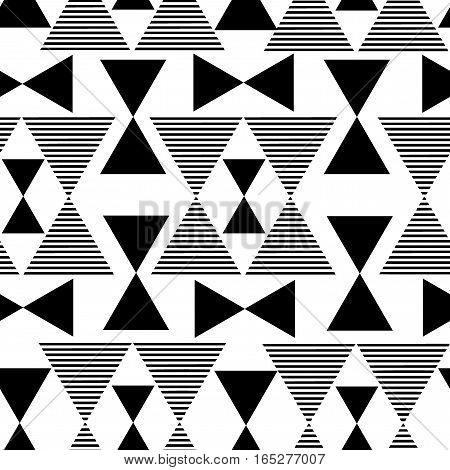 Abstract black geometric pattern. Overlay seamless vector pattern