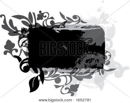 Grunge And Foliage Design