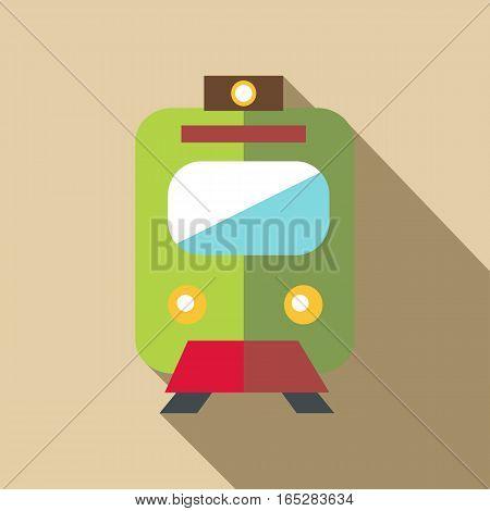 Train icon. Flat illustration of train vector icon for web
