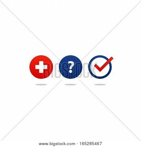 Health care and medicine services icon and logo, doctor consulting. Flat design vector illustration