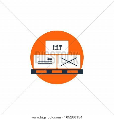 Flat design vector illustration. Delivery concept icon