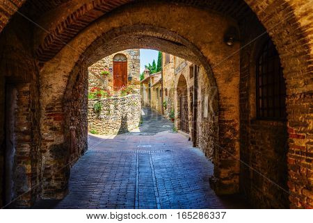 Archway In San Gimignano, Italy