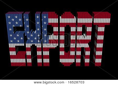 Export Text Containers American Flag