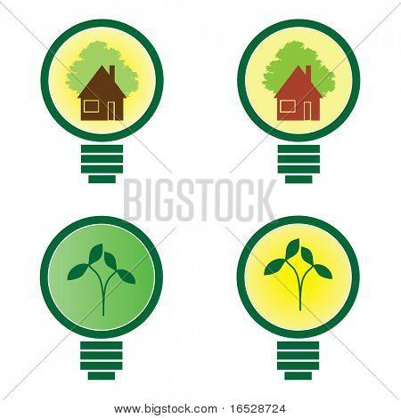 Bombilla de luz 4 - vector de ilustración ambiental