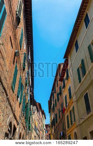 Alley In The Old Town Of Siena