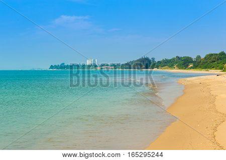 Sai Thong Beach, Sea At Rayong, Thailand