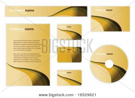 Business Set: Banner, Envelope, Business Card, CD, Stationery, Notepaper