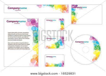 Conjunto de negócio: Banner, Envelope, Business Card, CD, papelaria, papel timbrado