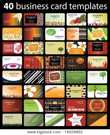 40 Cartões de visita colorido