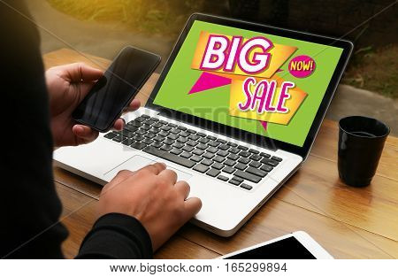 Sale And Sale Discount Promotion Deduction Man Planning , Sale Now , Super Sale, This Weekend Specia