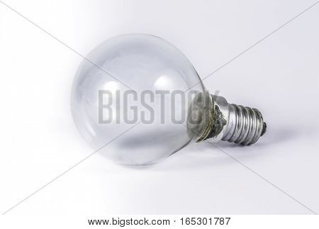 Halogen eco light with white background for thinking the idea creative design.