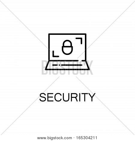 Security icon. Single high quality outline symbol for web design or mobile app. Thin line sign for design logo. Black outline pictogram on white background