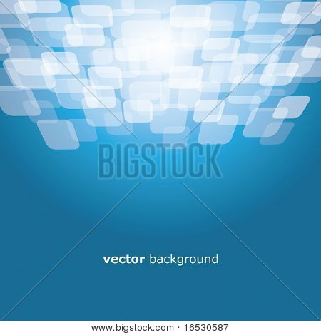 Vector motion warped square on the colorful background with text