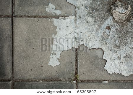 grunge Pavement Cement footpath for texture background.
