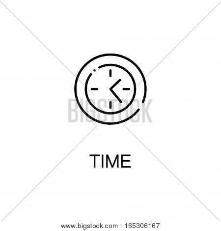 Time icon. Single high quality outline symbol for web design or mobile app. Thin line sign for design logo. Black outline pictogram on white background