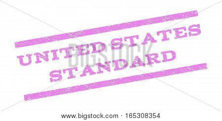 United States Standard watermark stamp. Text tag between parallel lines with grunge design style. Rubber seal stamp with unclean texture. Vector violet color ink imprint on a white background.