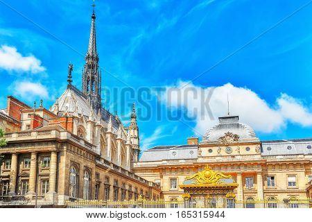 Paris Courthouse (palais De Justice De Paris) In Paris. France.