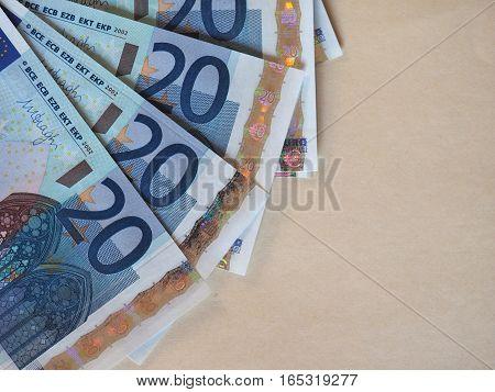 Euro (eur) Notes, European Union (eu) With Copy Space