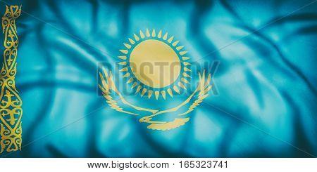 Kazakhstan Flag Waving