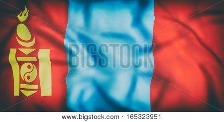 Mongolia Flag Waving