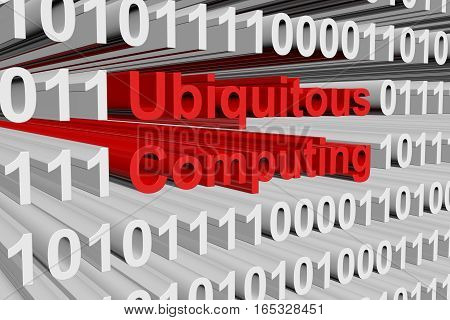 ubiquitous computing in the form of binary code, 3D illustration