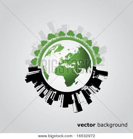 Eco mundo Vector