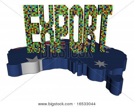 Export Text Containers Australia Map Flag