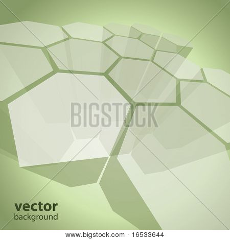 3d transparent polygon abstract background vector