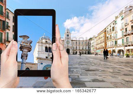 Tourist Photographs Column Marciana In Padua