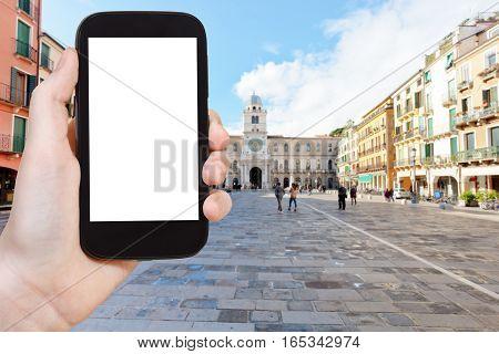 Tourist Photographs Piazza Dei Signori In Padua