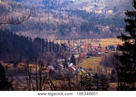 Village Of Lokve In Gorski Kotar