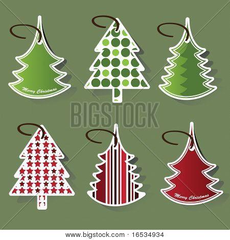 Weihnachtsbaum-Preis-tags