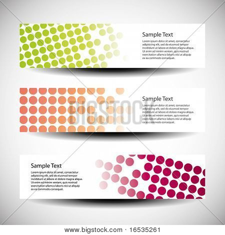 Colorful vector set of tree header design