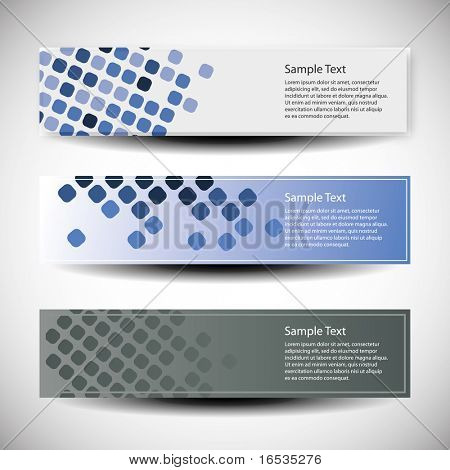Vector set of tree header design