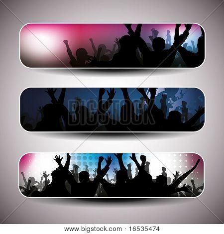 Colorful banner set vector illustration