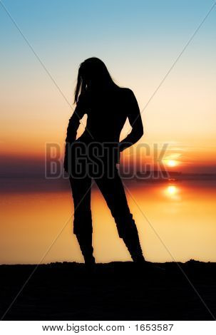 The Girl And A Sunset