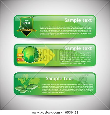 Banner colorido set vector illustration