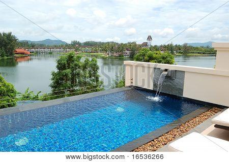 Swimming Pool At Luxury Hotel, Phuket, Thailand