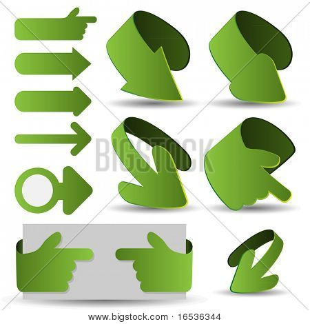3d vector arrows set