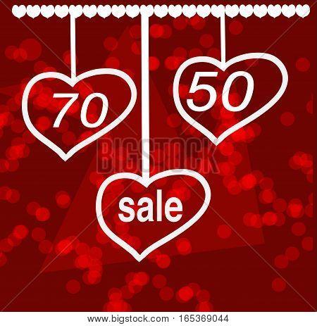 Valentine s day sale design concept, discount for shop