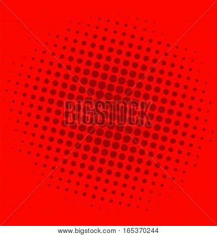 Pop Art Comic Red Background Dots Pattern Illustration Vector