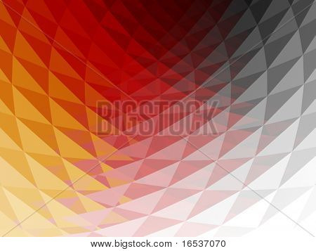 Wavy, faceted and multicolored 3D background with shining reflections