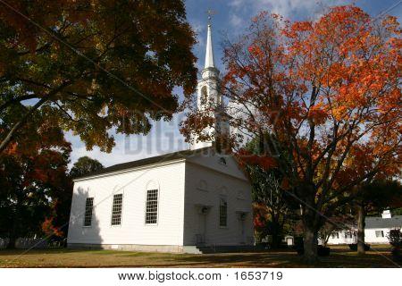 White Church In The Fall