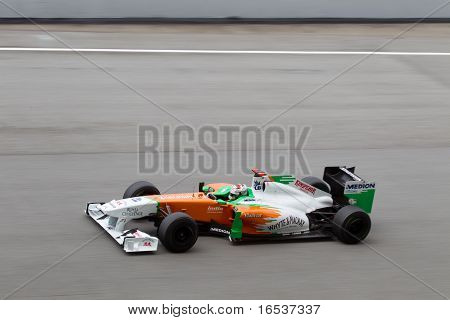 Adrian Sutil at a high speed straight