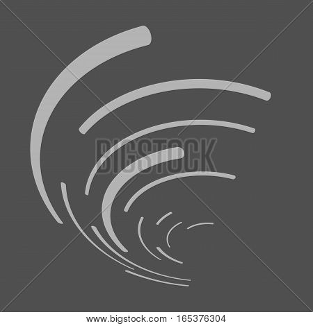 Vector abstract background. Modern technology illustration with mesh. Digital geometric abstraction with round lines. Wave abstraction.