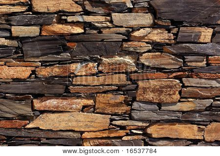 Background detail of an old schist wall