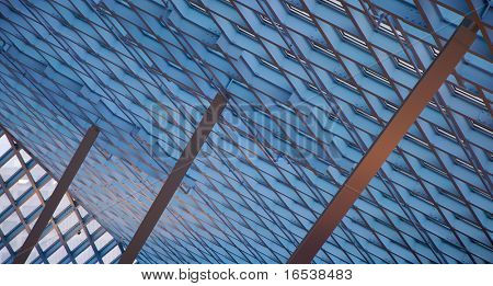 Buttressed ceiling skylights