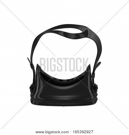 Mask for diving on white background. Top view. 3D illustration
