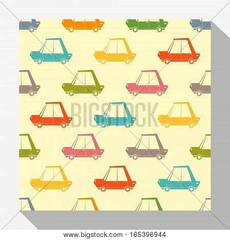 Retro seamless pattern collection with car , vector , illustration