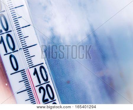 thermometer, winter, cold, warm, warming, zero, strip, March